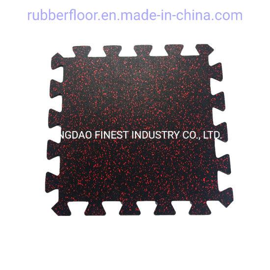Gym Commercial Crossfit Interlocking Puzzle Rubber Floor Mat