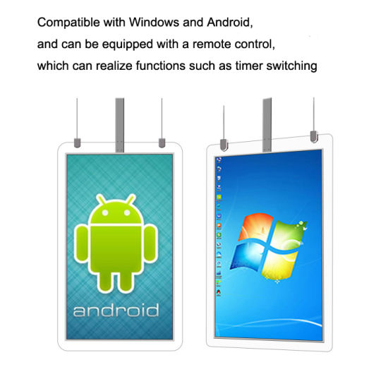 49-Inch Floating High-Definition Double-Sided Window LCD Multimedia Advertising Machine, Advertising Display Board