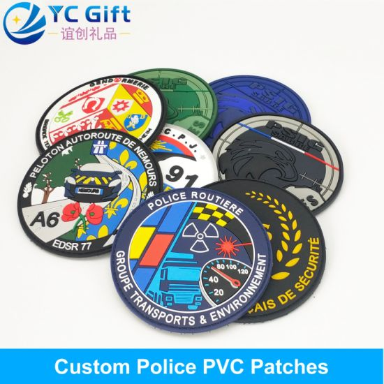 China Wholesale Customized Denim Jacket Garment Accessories Clothing Label Military Cop Logo PVC Rubber Tactical Patches in China