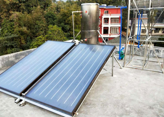 300L Sloping Roof Split Solar Water Heater with Flat Plate Collector