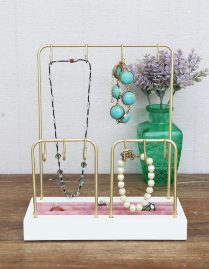 Gold Jewellery Holder 20X9X24cm Necklace Holder, Jewelry Rack for Necklaces