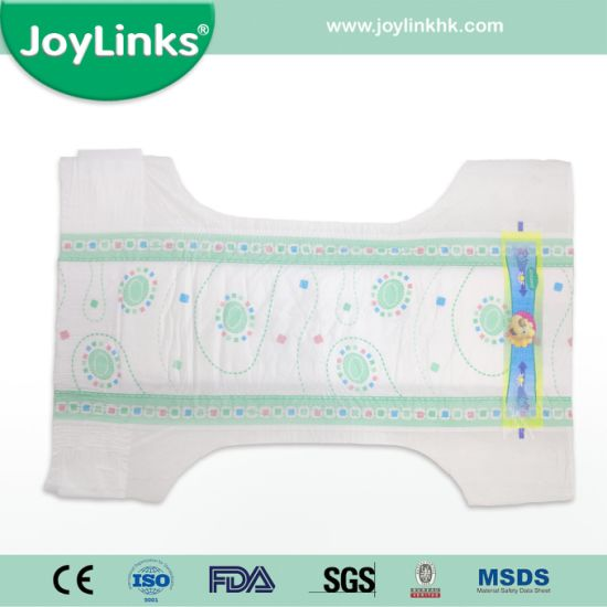 Disposable Baby Diaper with Huge Magic Tapes Similar to Pampers