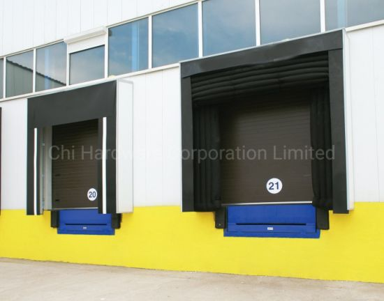 Automatic Stationary Fixed Hydraulic Dock Leveller and Dock Shelter for Warehouse Loading Platforms pictures & photos