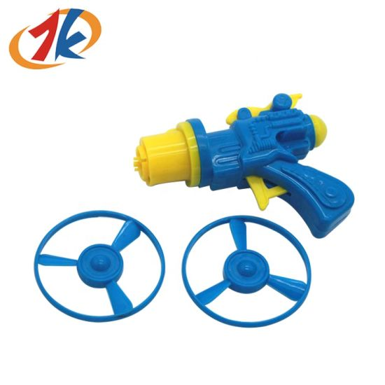 Hot Selling Plastic Children Toy Kids Plastic Disc Shooter Gun Toy for Promotion
