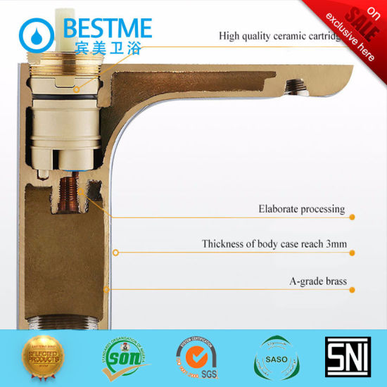 Gold Color Bathroom Accessories Basin Faucet Bm B15039lg China Sanitary Ware Gold Color Faucet Made In China Com