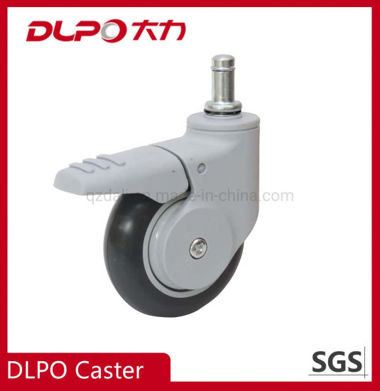 Dlpo Private Patent 3 Inch Medical Full Plastic PU Wheel Caster for Disinfection Machine