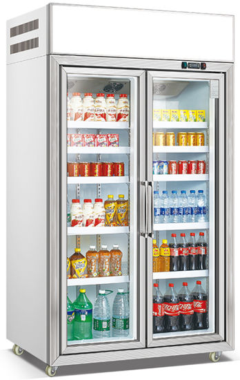 Double Door Commercial Fan Cooling Beer Fridge Beverage Cooler (LG-135)