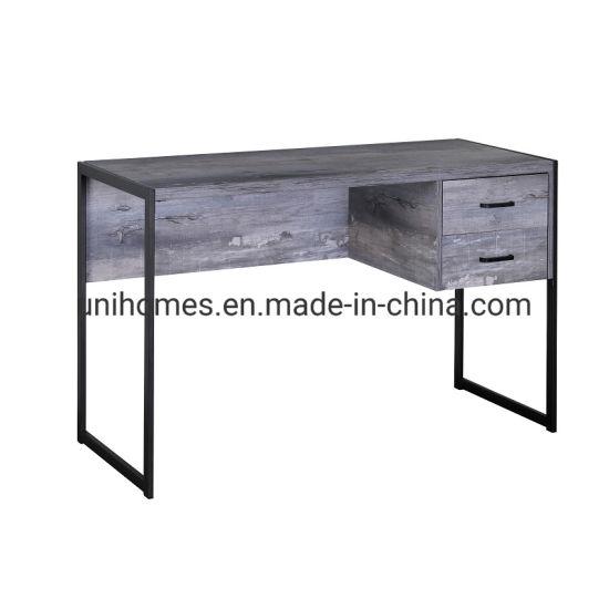 FurnitureR Industrial Wood/&Metal Writing Desk and Bookshelf Folding Home Office B