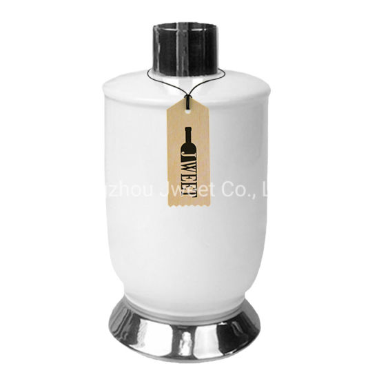 Custom 700ml White Tequila Ceramic Bottle with Base