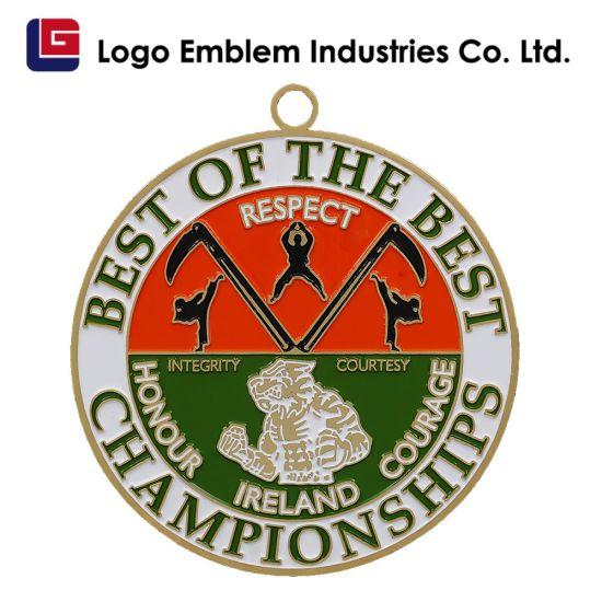 Hot Sale Metal 3D Silver Marathon Race Sports Awards Trophy Medal