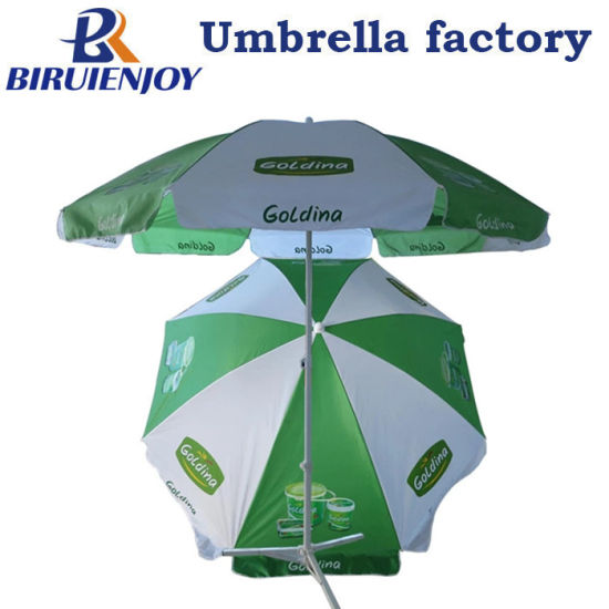 Custom Large Sun Umbrella Outdoor Parasol with Logo Printing 180/200/240 Cm for Promotion/Advertising/Street Display