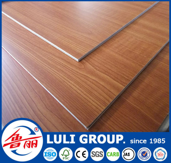 Wood Color Combi Core Melamine Faced Plywood pictures & photos