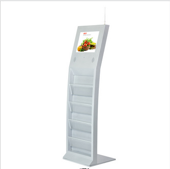 15 Inch Floor Standing Ad Player with Magazine Folder pictures & photos