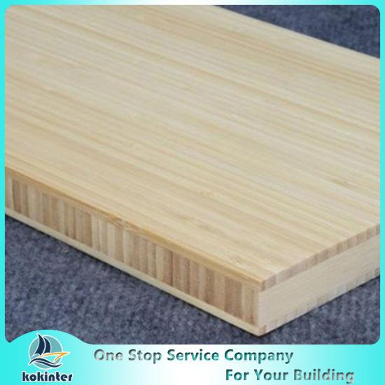 Vertical Single Ply 6mm Natural Edge Grain Bamboo Plank for Furniture/Worktop/Floor/Skateboard