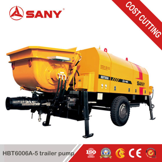 Sany Hbt6006A-5 70m³ /H Electric Concrete Trailer Pump pictures & photos
