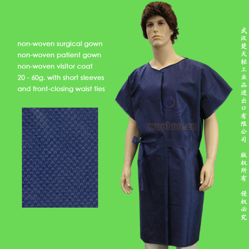 Disposable Nonwoven Patient Gown