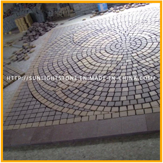 Natural Granite Garden Cobblestone Paving Pattern Stone For Outdoor