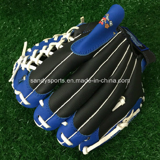 "11"" Junior Size PVC Leather Baseball Gloves pictures & photos"