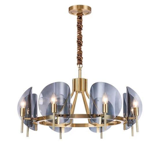 2019 Novelty New Blue Glass Pendant Lamp Metal Chandelier Lighting