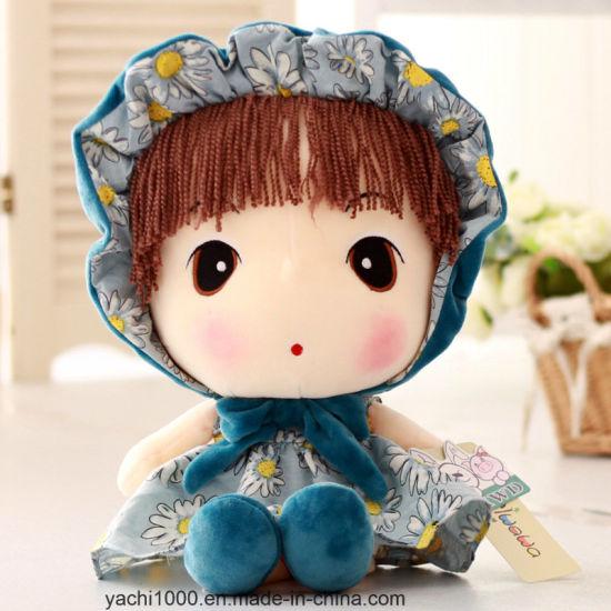 Rag Plush Girl Doll for Babies