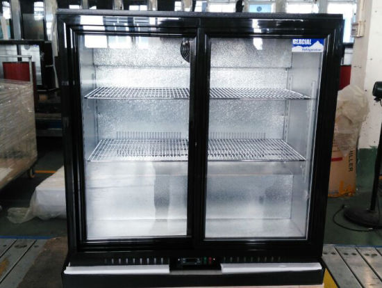210L Double Glass Door Back Bar Cooler pictures & photos