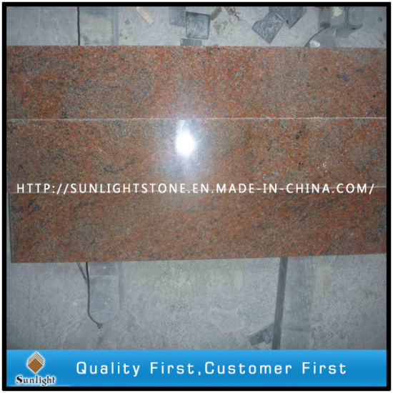 India Multicolor Red Granite Stone Slabs/Countertops/Flooring Tiles pictures & photos