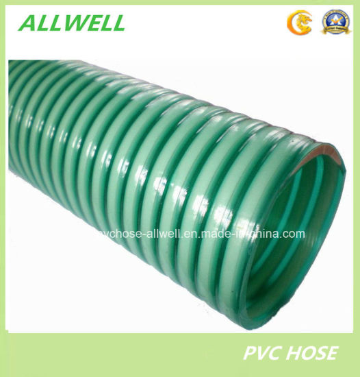China pvc suction spiral garden discharge irrigation water