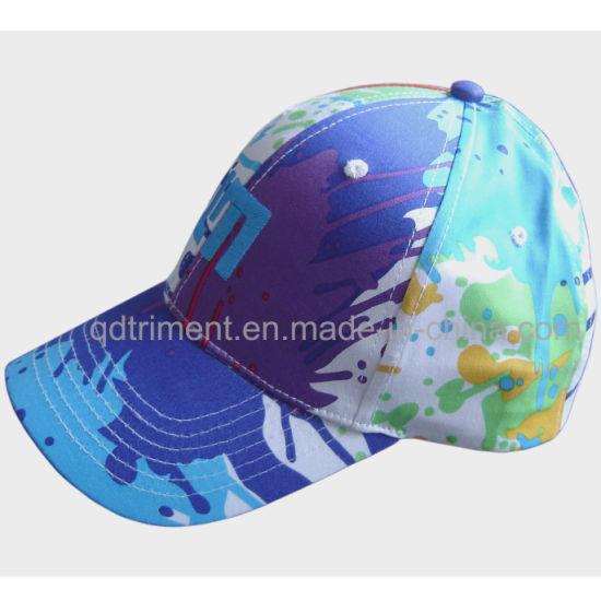 6-Panel Colorful Print Cotton Embroidery Custom Leisure Cap Hat (TMB2155-1)