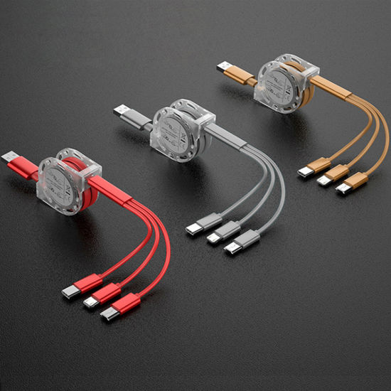 Hot Selling Telescopic 2.1A 3 in 1 Charger Micro USB Cable Mobile Phone Accessories/ Mobile Phone Accessory/ Cell Phone Accessories