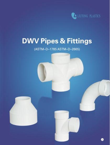 ASTM Sch40 / ASTM-D-2665 Standard Dwv UPVC Pipe & Fittings (tee, elbow, 45elbow, cross, 90deg long elbow, m/f elbow etc.)