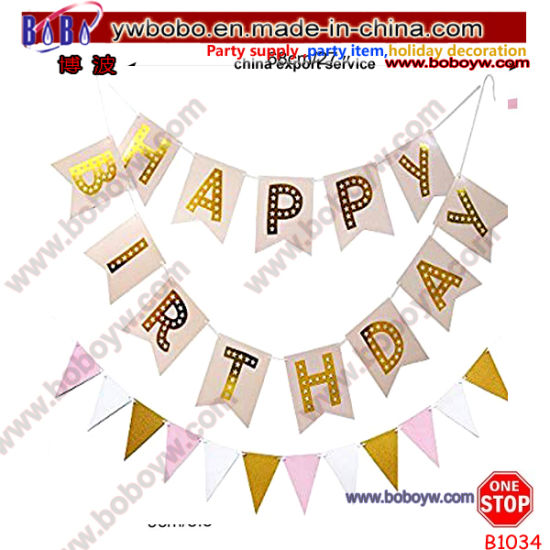 Birthday Party Supply Holiday Decoration Banner Party Banner Promotional Flag (B1034)