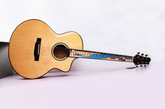 High End Professional Musical Instrument Abalone Inlay 38 Inch Acoustic Guitar