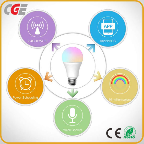 Multi Functional WiFi Dimmable RGB Color LED Light Smart Bulb