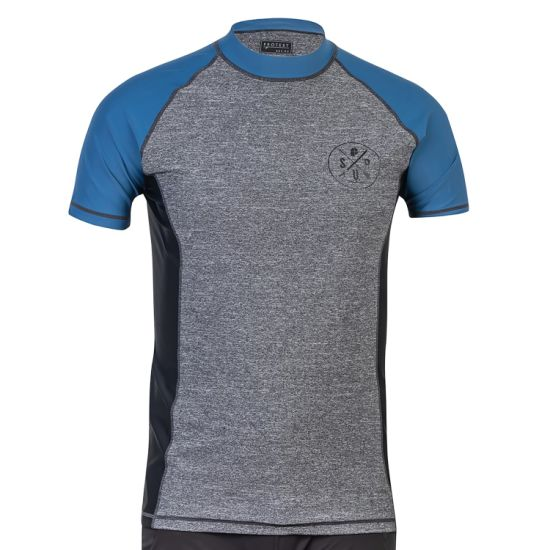 Men's Wholesale Custom UV Protection Contrasted Color Sport T-Shirt