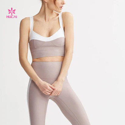 Sexy Sport Bra Color-Block Elegant Yoga Bra