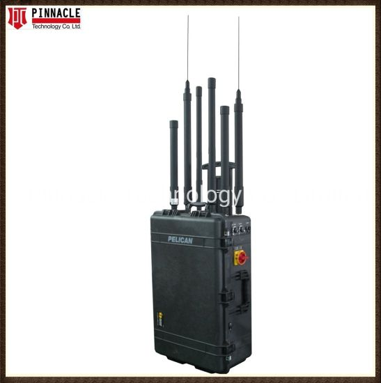 Portable Pelican RF Bomb GPS WiFi UHF VHF Cell Phone 2g/3G/4G/5g Signal Jammer with Ai Technology