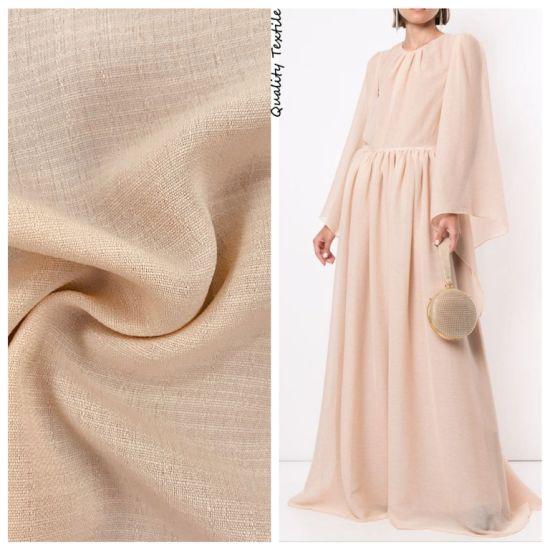 Plain Dyed Linen Slub Appearance Polyester Fabric for Textile Fabrics