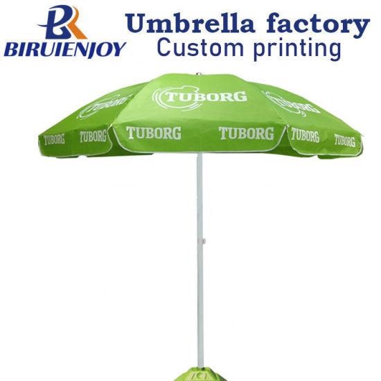 48 Inch Large Custom Printed Beach Patio Umbrella for Beer Promotional