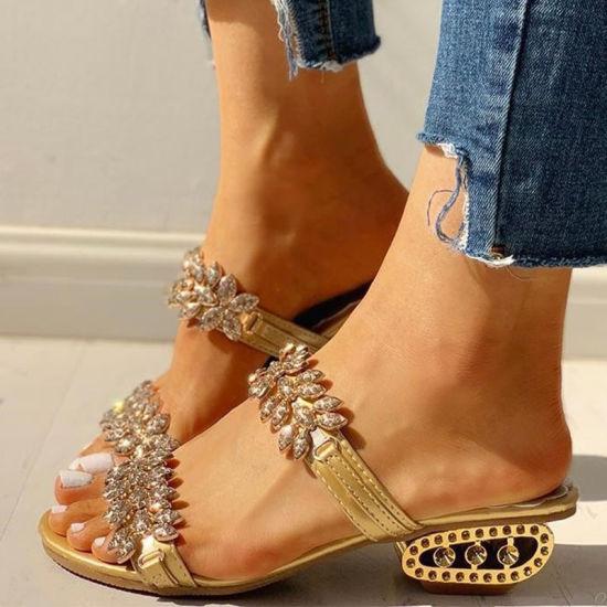 2021 Wedge Sandals Women Summer Shoes Elegant Ladies Rome Sandals Wedge Heels Slippers