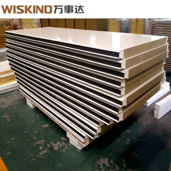 High Quality Factory Price Rock Wool Sandwich Panel with PU Edge Sealed