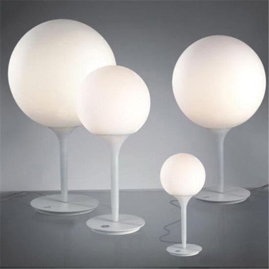 Metal White Glass Ball Table Lamp Designer Modern Office Castore 35 Table Lamp (WH-MTB-206)