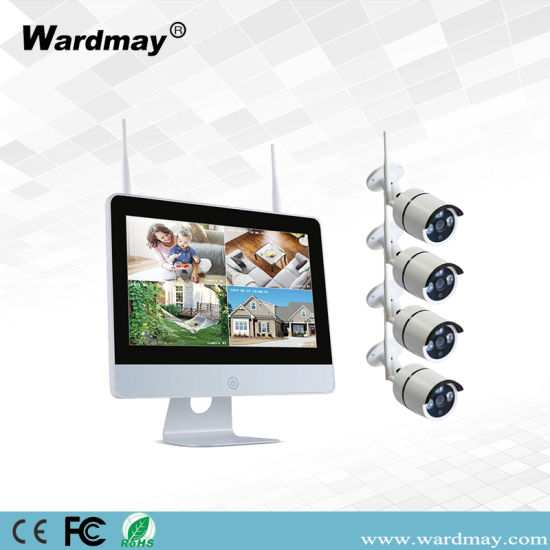4CH 2.0MP WiFi NVR Kits with 12 Inch Screen From CCTV Cameras Suppliers