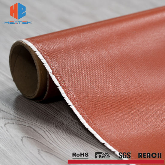 High Temperature Fiber Glass Fireproof Rubber Coated Silicone Cloth