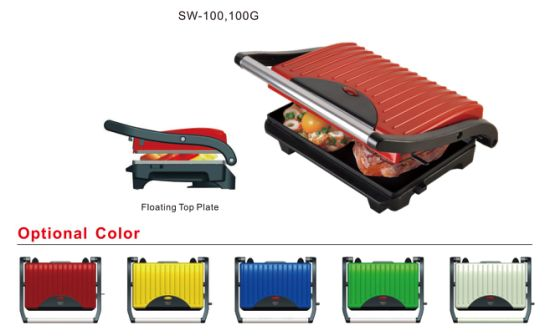 Sw100g Electric 2 Slice Sandwich Press Panni Grill Maker