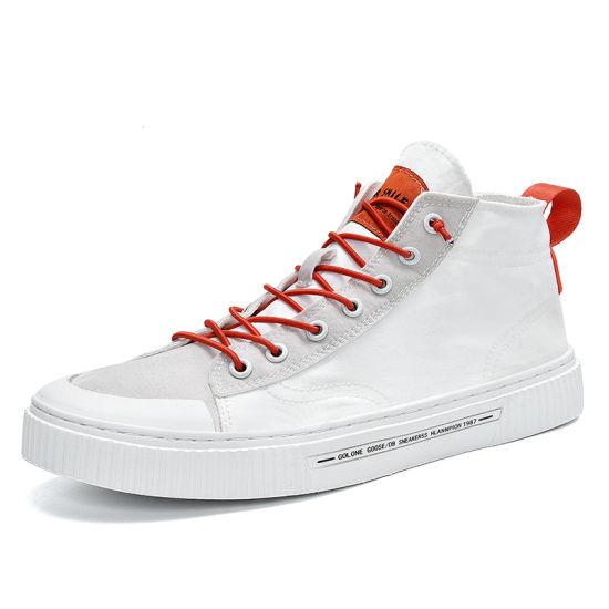 Hot Sale 4 Colors Men's Canvas Shoes Lace-up Autumn Casual Shoes for Men