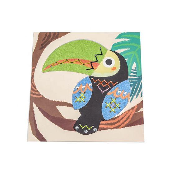 Wholesale DIY School Stationery Toy Cross Stitch Kit Toucan Cross Stitch Set