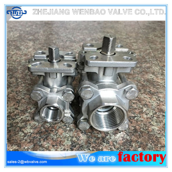 Stainless Steel 3-PC Glanded Mounting Pad Ball Valve pictures & photos