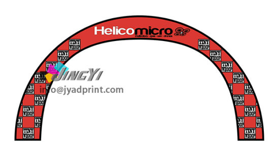 Advertising Full Color Printed Rainbow Race Gate Arch display Semicircle Flag Banner