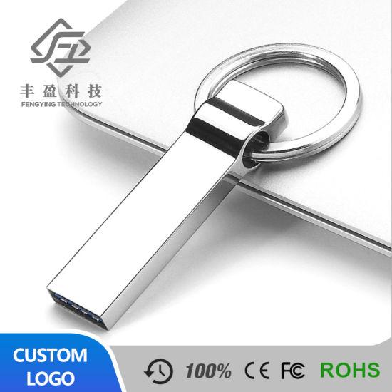 Custom Metal Mini USB Stick Flash Drive Logo Printing with Keychain