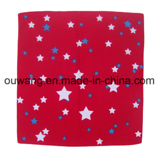 Wholesale Custom Logo Printing Multifunctional Colorful Cotton Knitting Square Scarf